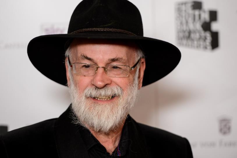 Lo scrittore britannico Terry Pratchett