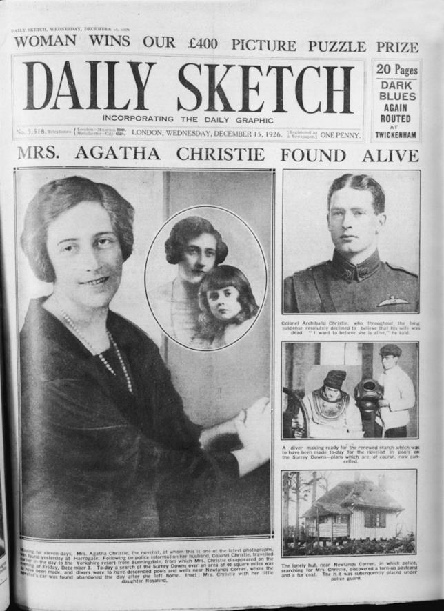 Il caso della scomparsa di Agatha Christie