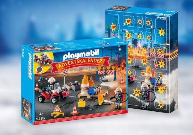 Il calendario dell'avvento di Playmobil coi vigili del fuoco