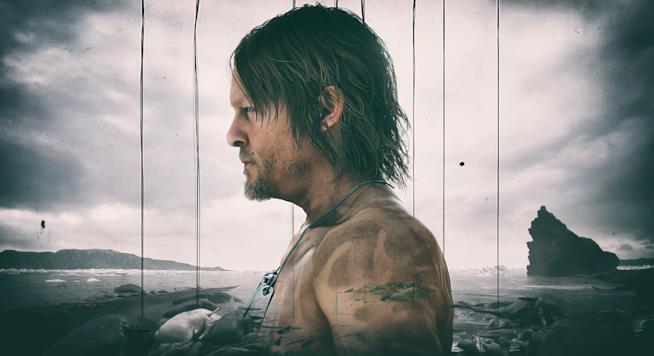Norman Reedus posa di profilo in un artwork di Death Stranding