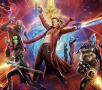 I protagonisti di Guardiani della Galassia Vol. 2 in un poster promozionale