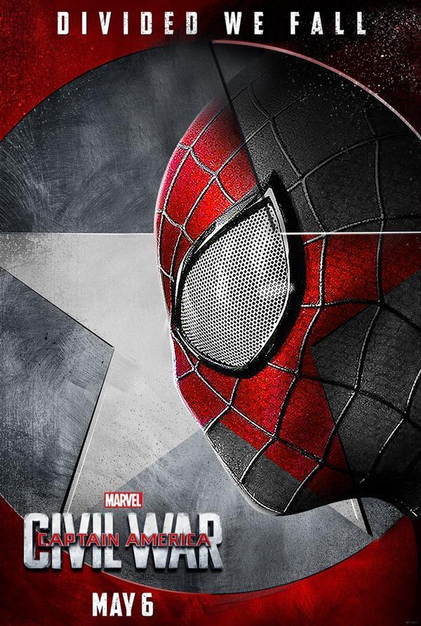 Spider-Man in un poster fan-made di Civil War
