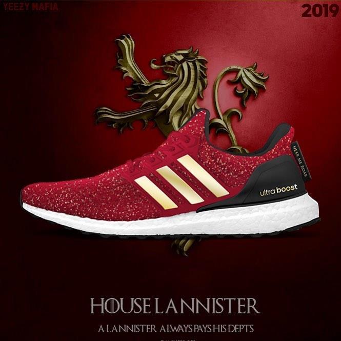 Le scarpe Adidad x Game fo Thrones: Casa Lannister
