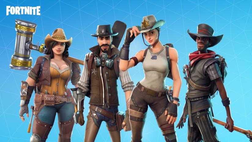 Gli eroi di Fortnite in stile western
