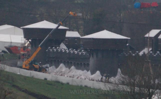 Il set di Grande Inverno durante l'ottava stagione di Game of Thrones
