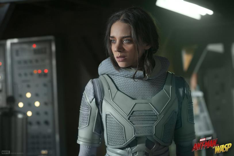 Hannah John-Kamen nei panni di Ghost in Ant-Man and the Wasp