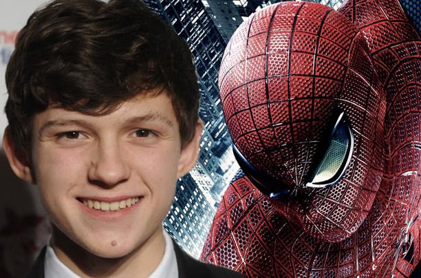 Un collage tra Tom Holland e Spider-Man