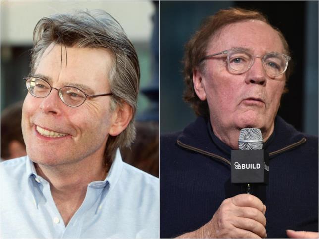 gli scrittori Stephen King e James Patterson