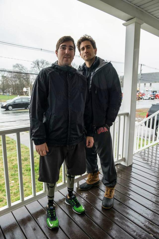 Jake Gyllenhaal con sopravvissuto Jeff Bauman