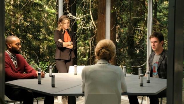 David a colloquio con Melanie nella struttura di Summerland