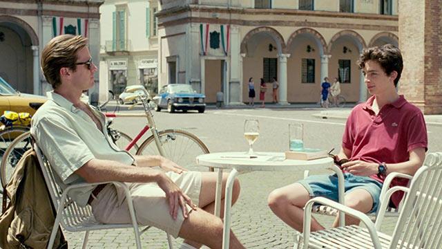 Armie Hammer e Timothée Chalamet in una scena del film