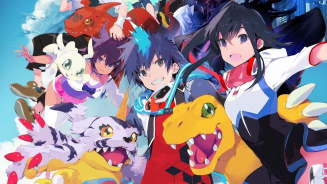 Gli eroi di Digimon World: Next Order in compagnia di alcuni Digimon