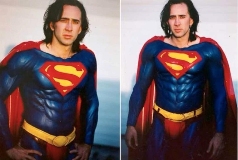 In foto Nicolas Cage dal film Superman Lives