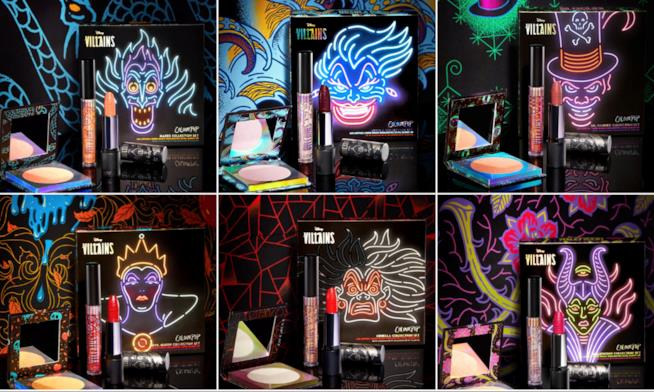 La collezione completa di make up dedicata ai villain Disney