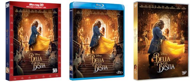 Blu-Ray 3D, Blu-Ray e DVD de La Bella e la Bestia
