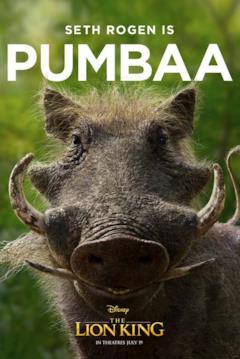 character poster di Pumbaa
