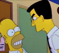 Homer Simpson e Frank Grimes in Il Nemico di Homer
