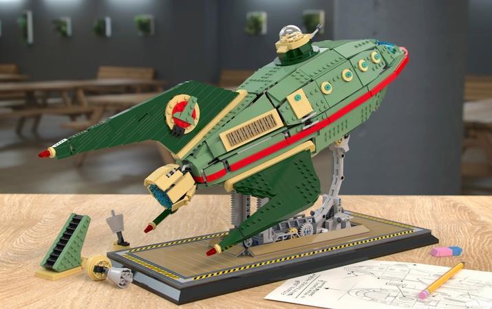 Il prototipo dell'astronave Planet Express d LEGO Ideas