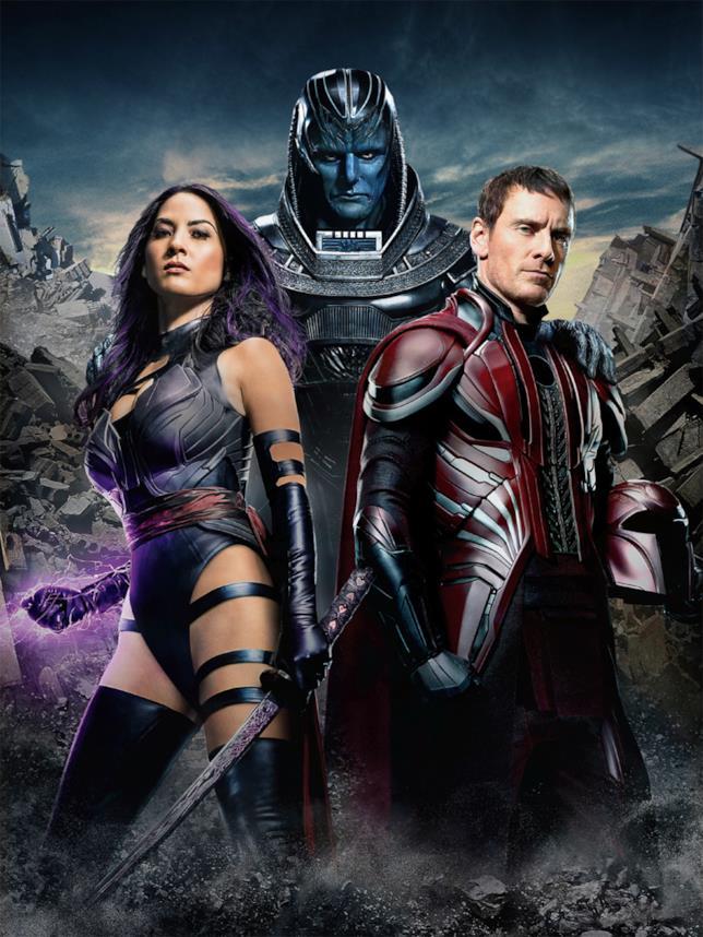 Apocalisse, Magneto e Psylocke in X-Men: Apocalypse