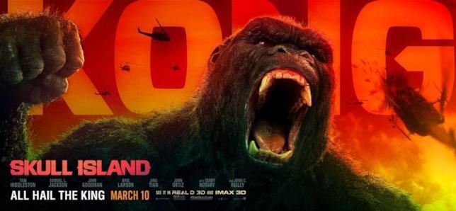 Nuovo banner pubblicitario Kong: Skull island
