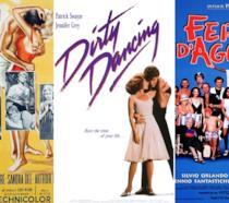 Locandine dei film Scandalo al Sole, Dirty Dancing, Ferie d'Agosto