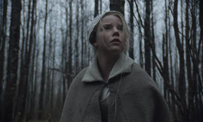 Anya Taylor-Joy/Thomasin in una scena di The Witch