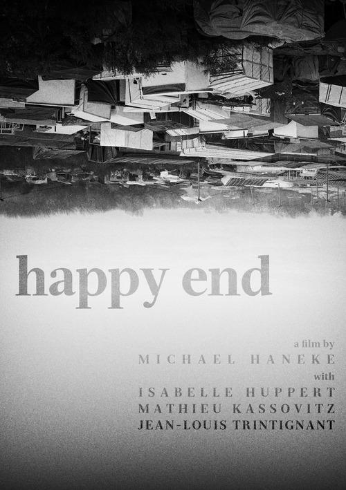 Il suggestivo poster in bianco e nero di Happy End di Michael Haneke