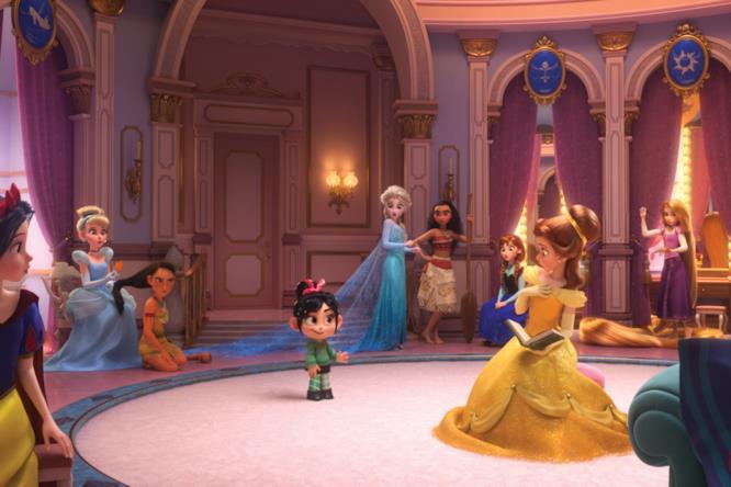 Vanellope con le principesse Disney