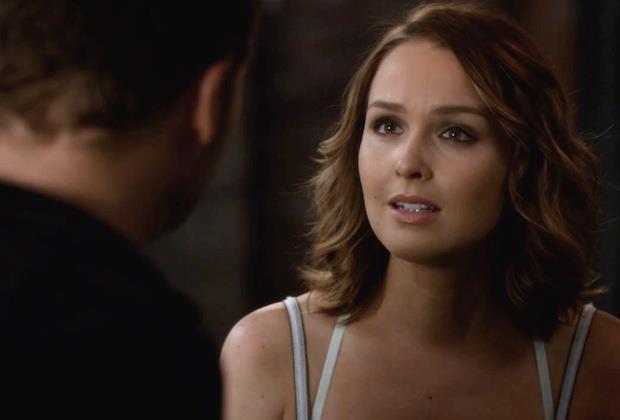 Camilla Luddington in un'immagine dal finale di Grey's Anatomy 12
