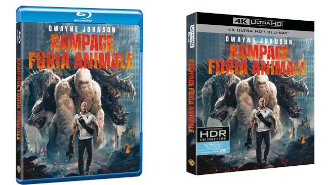 Rampage - Furia Animale: Blu-ray e 4K Ultra HD