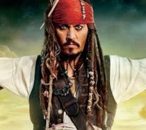 Un'immagine di Johnny Depp nei panni di Jack Sparrow in Pirati dei Caraibi - La vendetta di Salazar