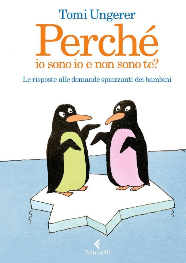 La copertina con due pinguini dal pelo colorato differentemente