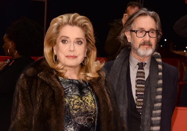Catherine Deneuve e Martin Provost durante la presentazione del film Quello che so di lei
