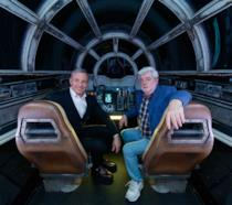 Bob Iger e George Lucas sul Millennium Falcon