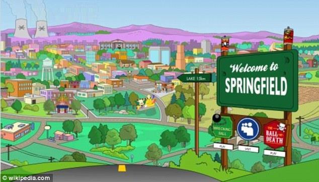Veduta dell'intera città di Springfield