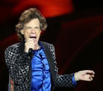 Mick Jagger sul palco durante un concerto