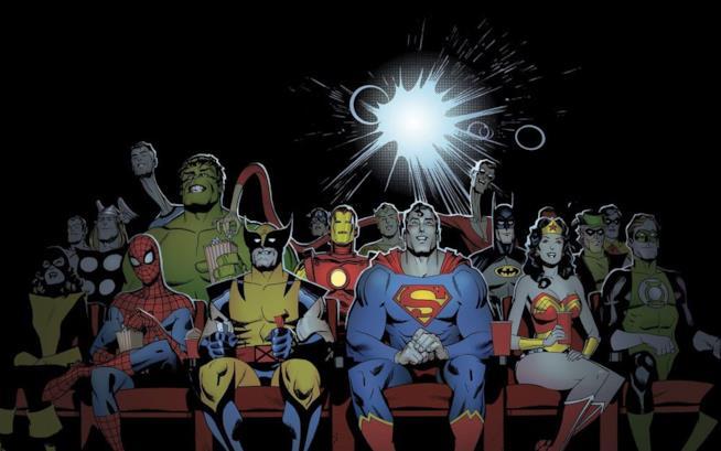 Gli eroi Marvel e DC tutti insieme al cinema
