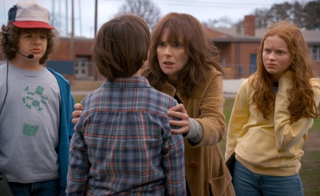 Una scena della seconda stagione di Stranger Things