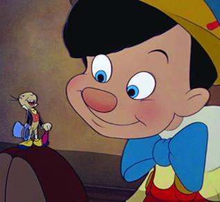 Il Pinocchio Disney in formato cartone animato.
