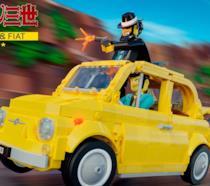 Set LEGO Fiat 500 F con le Minifigure di Lupin III e Jigen