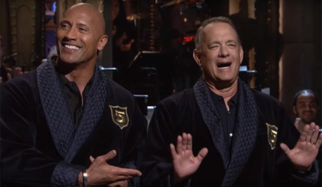 The Rock e Tom Hanks al SNL