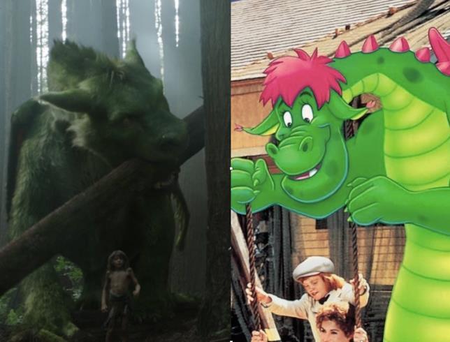 Le due versioni di Elliott in Pete's Dragon