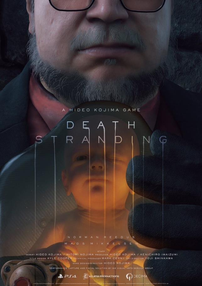 Uno dei poster promozionali di Death Stranding