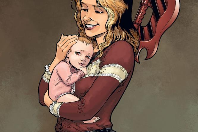 Buffy tiene in braccio una bambina