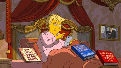Il cane-parrucchino di Trump cambia posizione