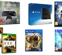 Collage console e videogame in offerta per l'Amazon Prime Day