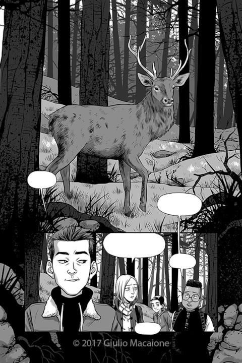 Una delle pagine di anteprima di Nel Buio tra gli Alberi