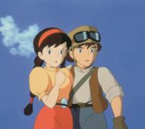 Una scena del film d'animazione Il castello nel cielo