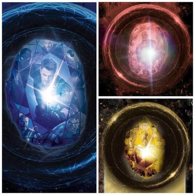 Eroi e villain nelle Gemme dell'Infinit