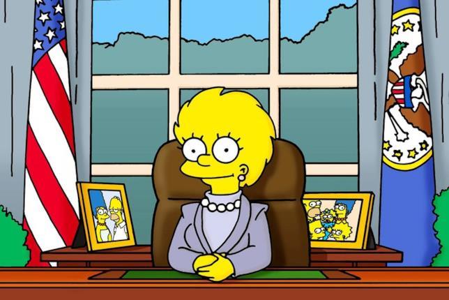 Lisa Simpson alla presidenza degli Stati Uniti nell'episodio Bart to the Future